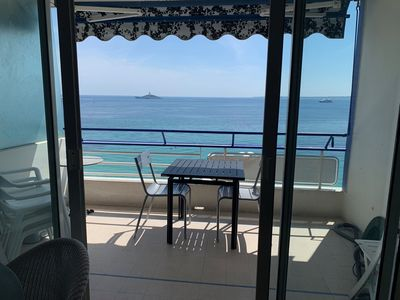 Photo for LE COLOMBIER - Wonderful Seaview for this spacious studio with south terrace