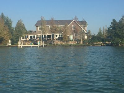 Photo for 2015 built superb home on sand bottom Elk Lake