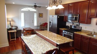 The Little Easy in New Orleans - open concept living/dining/kitchen