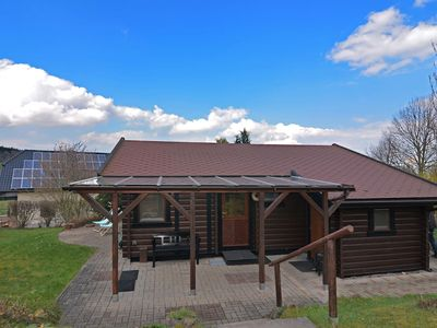 Photo for Modern wooden house in Sauerland near Diemelsee with separate children's playhouse