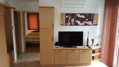 Photo for Modern apartment with air-condition, pool and barbecue for 4+2 person, free WIFI