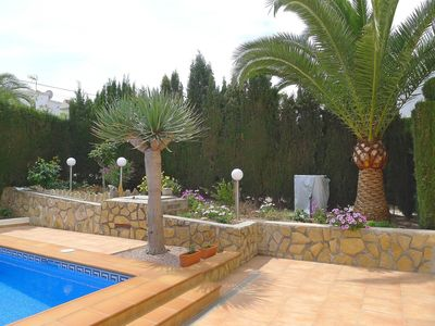 Photo for Wonderful private villa for 4 people with A/C, WIFI, private pool, TV and parking