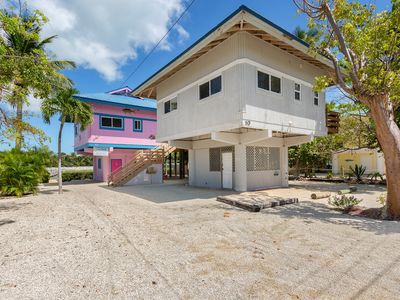 Photo for Fun home in the Keys w/ a large wrap-around deck - close to the water!