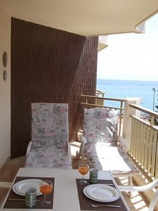 Photo for Apartment 50 m. to Beach, WIFI, Quiet Terrace to Sea!
