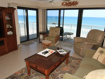 Photo for Coastal Comfort, 3/2 Corner Condo, Direct Ocean & Pool Views, No-Drive Beach!