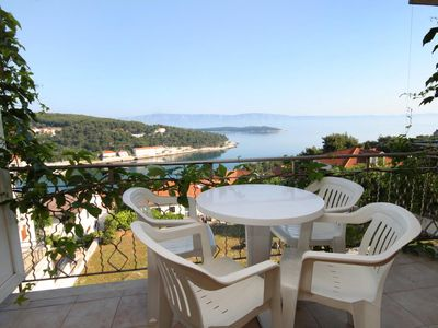 Photo for One bedroom apartment with balcony and sea view Jelsa, Hvar (A-8765-f)