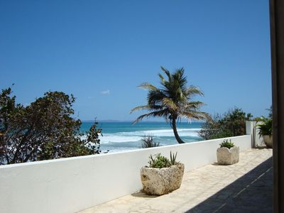 The patio with views of Puerto Rico, Culebra and St. Thomas