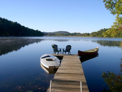 Private dock 50 feet from cottage - sailboat, canoe & two kayaks