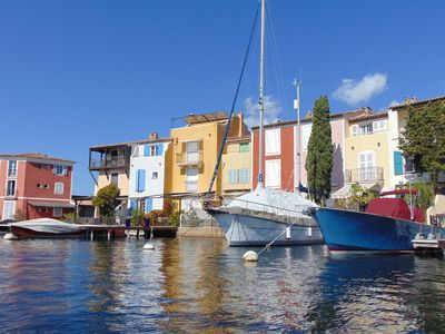 Photo for Attractive Apartment In The Square Of Port Grimaud Sud, stunning marina view.