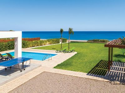 Photo for 3 bedroom beachfront villa, outdoor dining, private pool, Wi-Fi & A/C