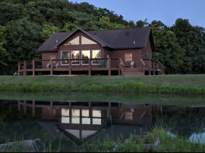 Photo for Enjoy the White River, Luxury & Comfort Sleep's 8, on the river front in Cotter