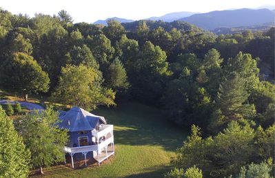 Photo for Smoky Mountains Octagon House:  Beautiful home with sweeping long range views