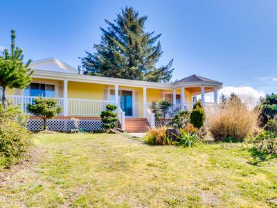 Photo for Spacious coastal home with deck, gas fireplace & partial ocean views