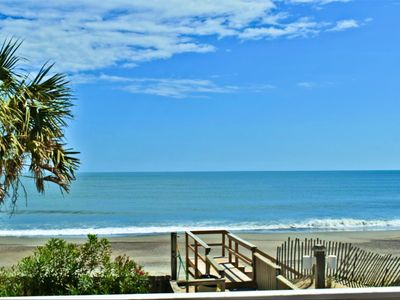 Photo for Oceanfront first floor condo with indoor and outdoor pools!