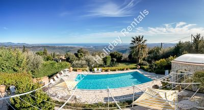 Photo for GORGEOUS STONE VILLA WITH INCREDIBLE SEA VIEWS & POOL ref: NIC668