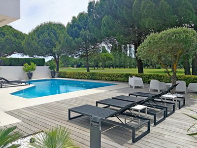 Photo for Luxury villa with swimming pool in the heart of La Grande Motte golf course