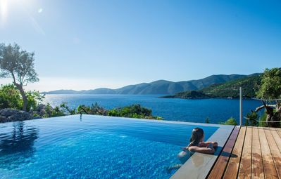 Photo for -15%: Exclusive Waterfront Villa,2 private pools & stunning view!