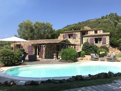 Photo for Charming sheepfold-style house near Palombaggia beach with private pool