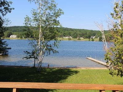 Photo for Relaxing lakefront retreat with indoor & outdoor fun at your fingertips
