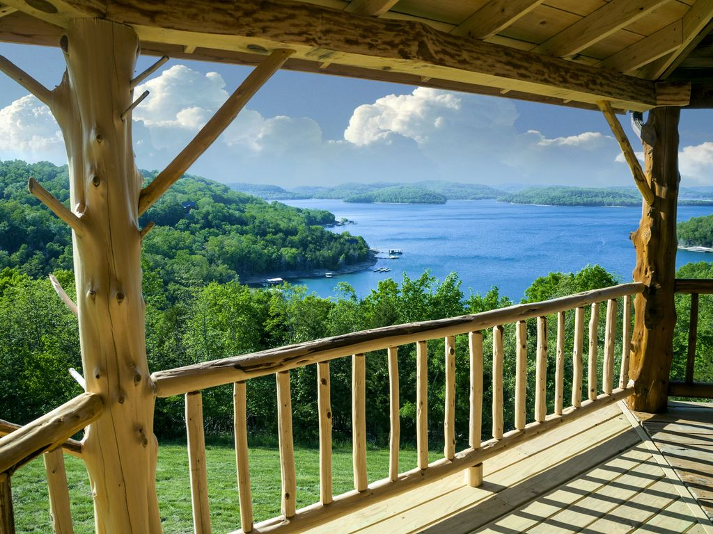 jaw view cabin to pin shore a this cabins dropping are on the arkansas wake up fall at lake getaway beaver in