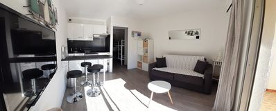 Photo for Studio 24m² + loggia 100m from the sea Air conditioning / WIFI