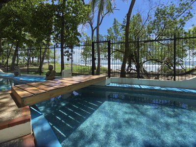 Photo for Stay on the Beach! Tamarindo Beachfront 4 Bedroom House with private pool