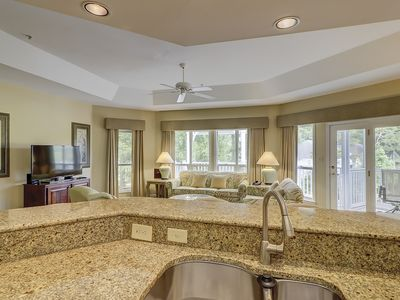 Photo for Luxury 2BR/2BA Villa 1st FL Sleeps 6, Steps to Beach with Amenities; Golf,Tennis