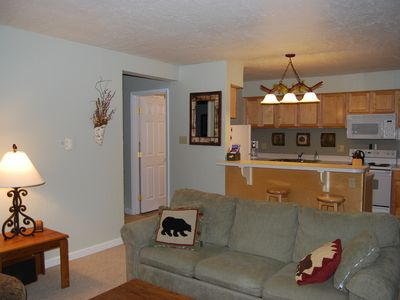 Photo for Luxury 1 Bedroon, Ground Floor Corner Unit.  Hot Tub/Pool.  Walk to Ski/Town