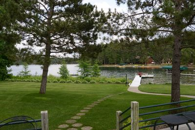 The view from the deck - lake level to Big Sand Lake, a premier lake in NW MN