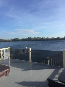 Photo for Luxury Tribeca Lodge on Jet Ski lake with lakeside hot tub - Tattershall Lakes
