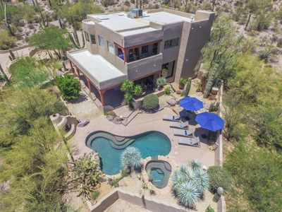Photo for Luxury Home amid Saguaros on 2 ac Tucson Mtns foothills, 15 mins to downtown,
