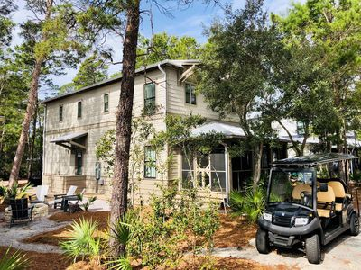 Photo for 30A Beach House - GOLF CART INCLUDED! WOO HOO! - Pool & Beach! FIRE PIT IN BACK
