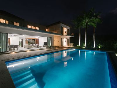 Photo for CONTEMPORARY MINIMALIST 6BR VILLA WITH CHEF, MAID, GOLF CART & PRIVATE POOL