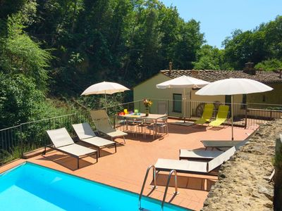Photo for Beautiful apartment in villa with private pool, TV, washing machine, pets allowed and parking