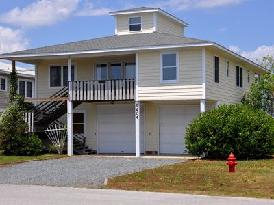 Photo for KIP'S PLACE: 4 BR / 3 BA soundfront in Topsail Beach, Sleeps 8, Elevator