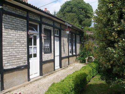 Photo for Riverside cottage in Medieval Josselin, great for sightseeing or relaxing