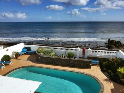 Photo for Sea Front, 20 Metres From Sea, With Heated Private Pool And Hot Tub