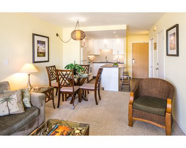 Living and dining areas