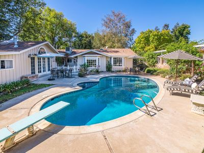 Photo for Luxe European 3BR Cottage w/ Private Pool & Lush Gardens, 1 Mile to Wineries