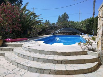 Photo for Villa 7 persons, 4000m from the beach, private pool, air conditioning, wifi