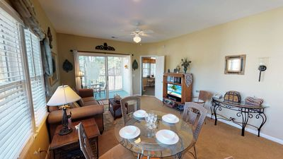 Photo for Top floor Sunny End unit Condo with Golf course View! Close to Beach, Pools & Amenities!