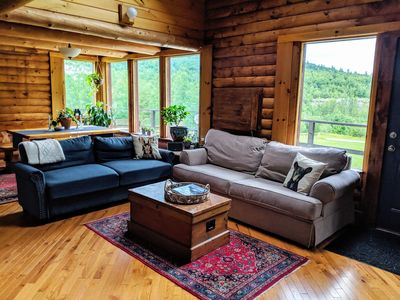 Photo for Private & Secluded Log Cabin just 8 minutes from Okemo Mountain