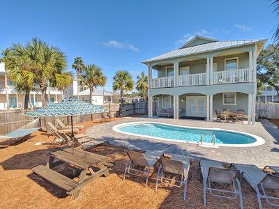 Photo for New -7 BR 6 BA, Private Pool/ Free Golf Cart Included! 3-5 Minute walk to Beach!