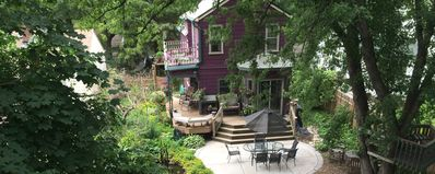 This gorgeous victorian home welcomes you to a magical vacation!