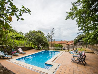 "Photo for ""Casa do moinho"" garden, pool and barbecue."