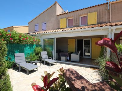 Photo for Nice villa in residence CLOS DE SOCORRO with pool, 2 bedrooms, great View, PORTIRAGNES PLAGE