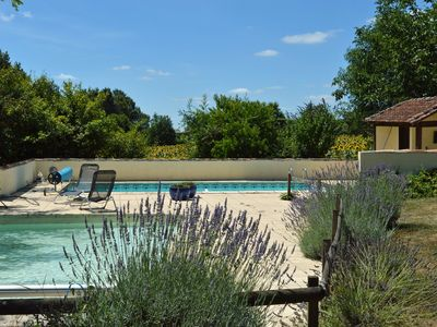 Photo for Comfortable 3-bed/3-bath holiday home with heated pool and large wilded garden