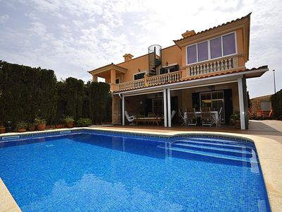 Photo for VILLA ANABEL- Chalet  in Puig de Ros. Sat TV. Garden. Barbecue.Eco-friendly Pool - Free Wifi