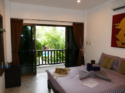 Photo for 2 Bedrooms Villa, Zen Tropical Garden, Swimming pool; Jacuzzi, Beach 400m.