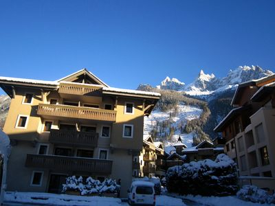 Photo for Two bedroom apartment in fabulous residence in Chamonix centre with Free WiFi